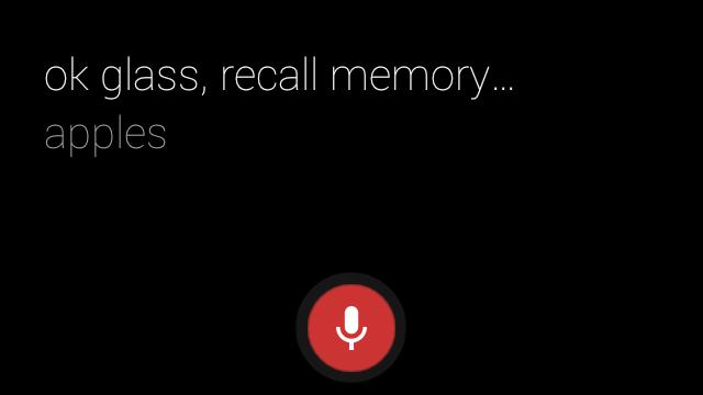 Recall Memory - apples